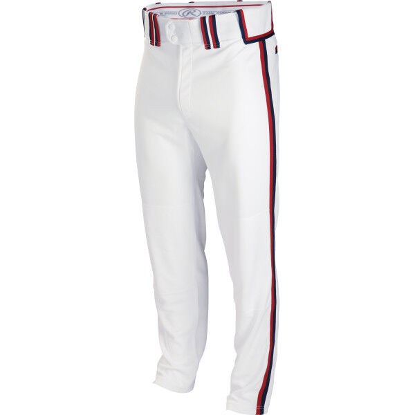 Youth Semi-Relaxed Pant White/Scarlet/Navy