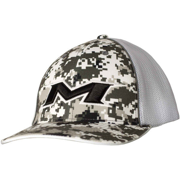Adult Digi-White Mesh Hat