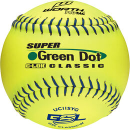 GSL 12 in Green Dot Softballs (UC11SYG)