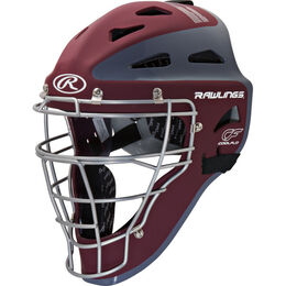 Velo Adult Catchers Helmet Cardinal/Gray