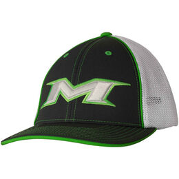 Adult Green-White Mesh Hat