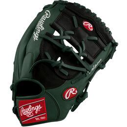 White/Green Custom Glove