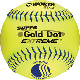 USSSA 12 in Gold Dot Softballs (UC12CYXT)
