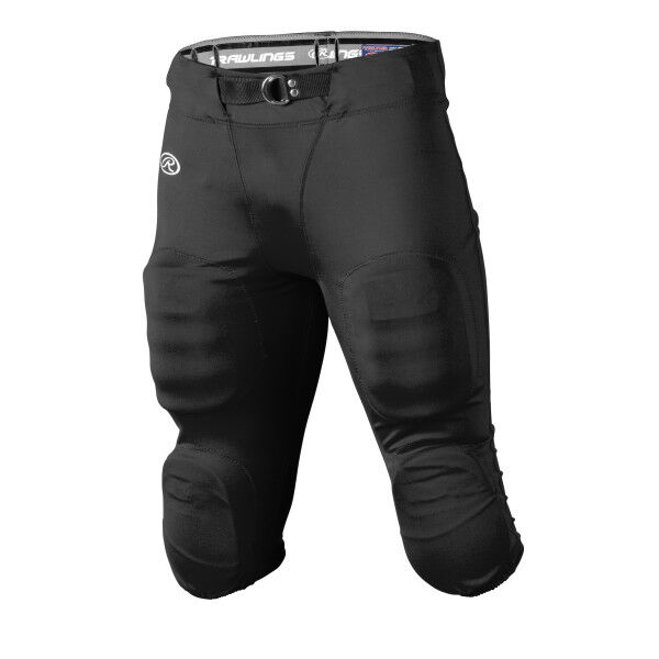 Adult Slotted Football Pant Black