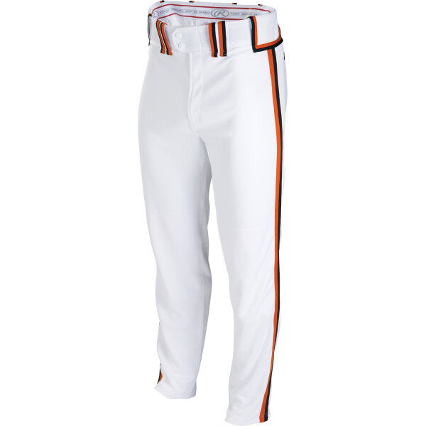 Adult Semi-Relaxed Pant White/Black/Burnt Orange
