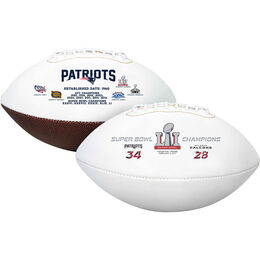 5 Time Super Bowl Champions New England Patriots Full Size Football