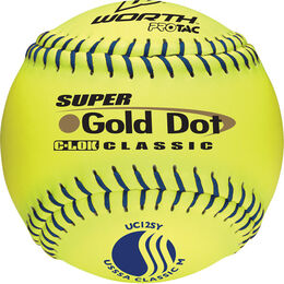 USSSA 12 in Gold Dot Softballs (UC12SY)