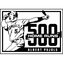 MLB 2014 Albert Pujols 500 Career Home Runs Baseball