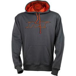 Adult Charcoal-Orange Hoodie