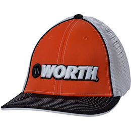 Adult Black-Orange Mesh Hat