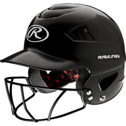 Coolflo Batting Helmet with Facemask Black
