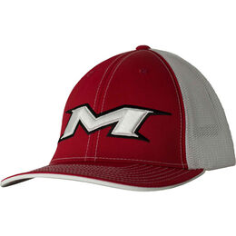 Adult Red-White Mesh Hat