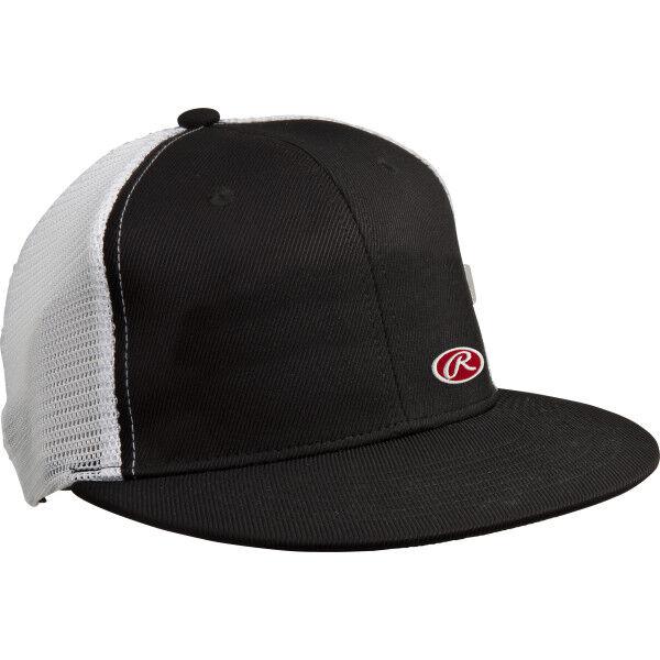 Rawlings Black White Trucker Mesh Hat