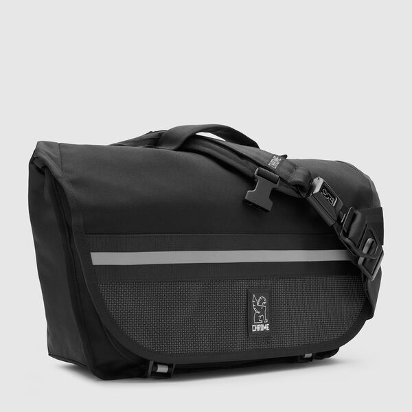 Mini Buran Messenger Bag in Night / Black - medium view.