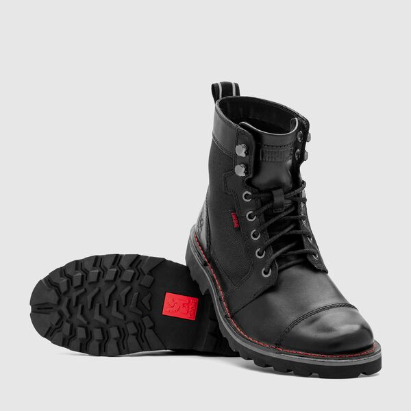 503 Combat Boot in Black - medium view.