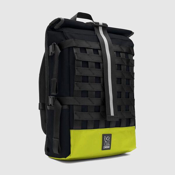 Barrage Cargo Backpack in Indigo / Lime - medium view.