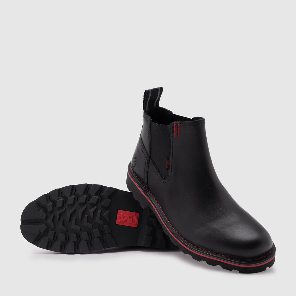 212 Chelsea Boot in Black - large view.