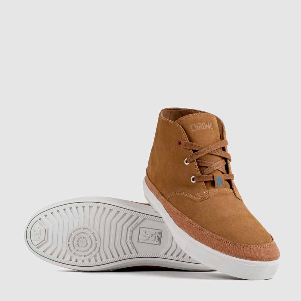 Suede Chukka in Golden Brown / Off White - large view.