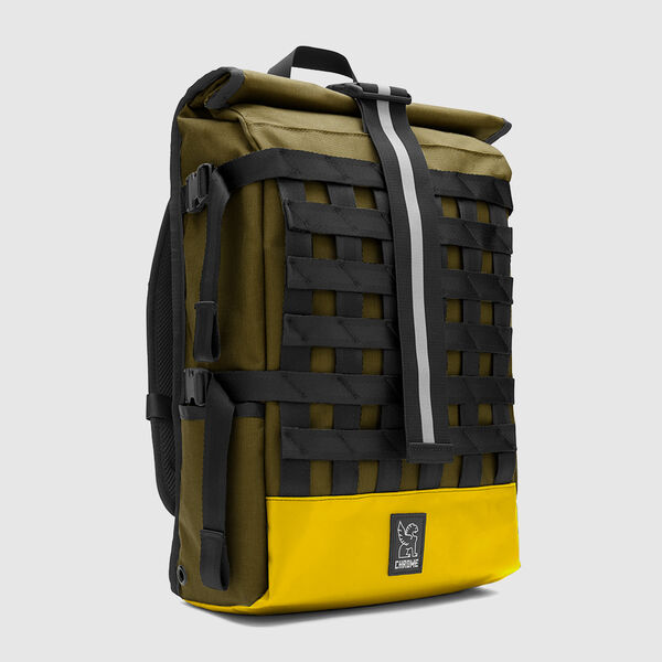 Barrage Cargo Backpack in Fir / Bright Yellow - medium view.
