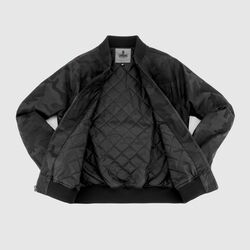 Utility Bomber Jacket in Black Camo - small view.