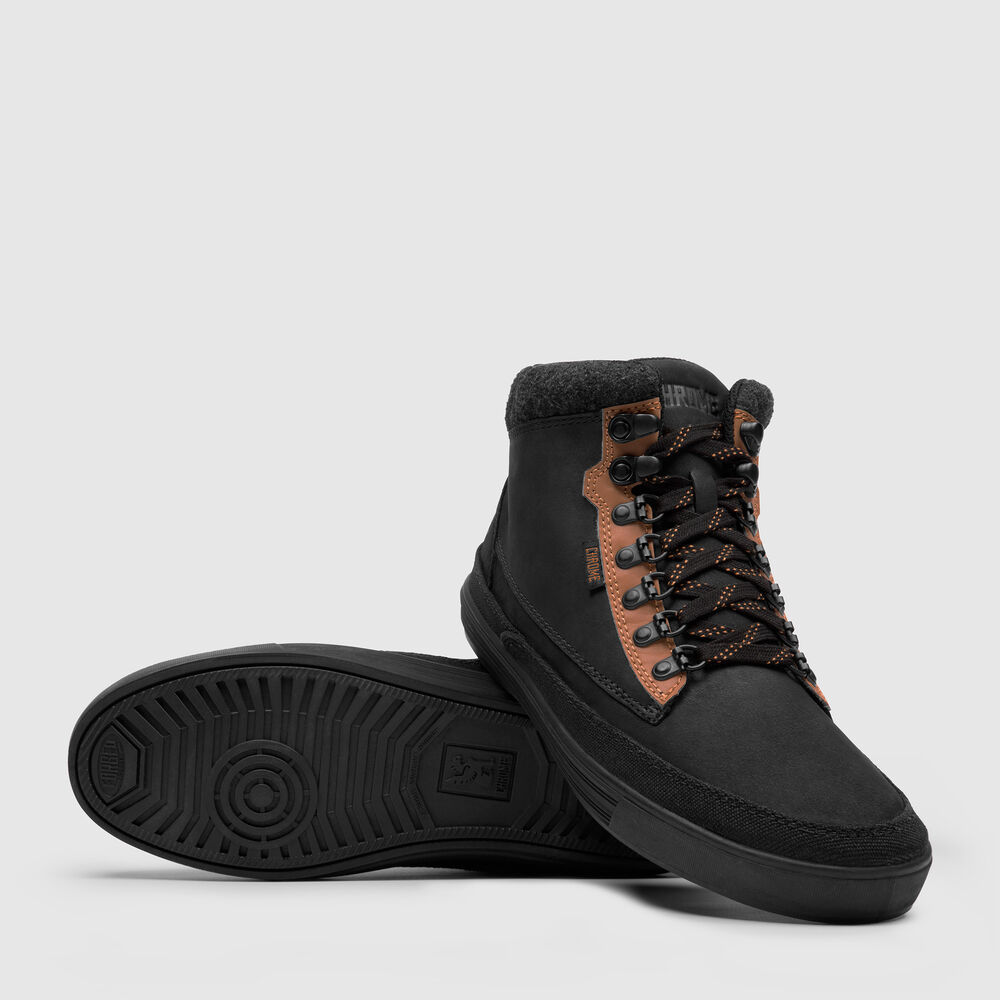 City Hiker Boot in Black / Golden Brown - large view.