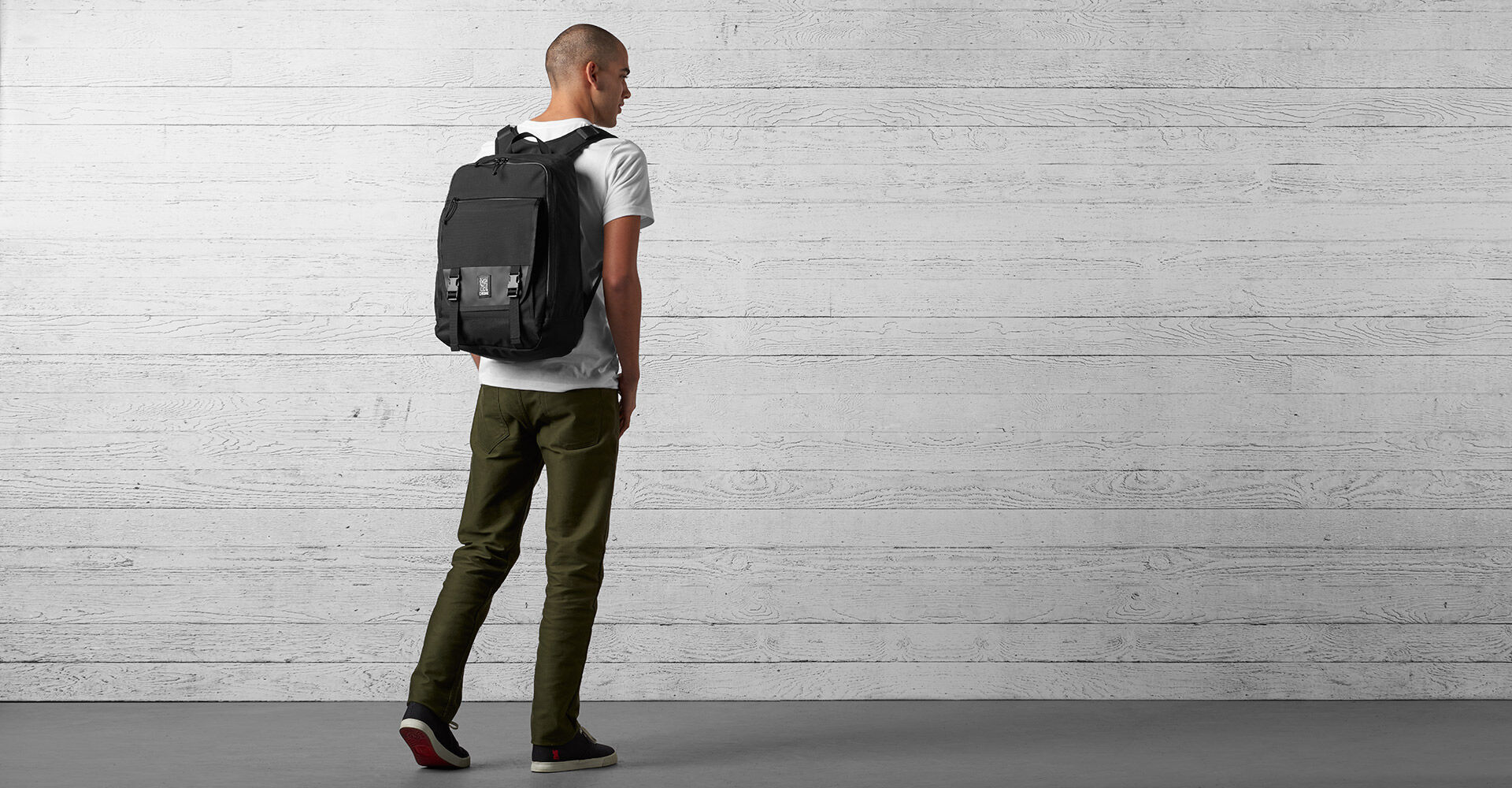 Cardiel Fortnight Backpack in Black - wide view.