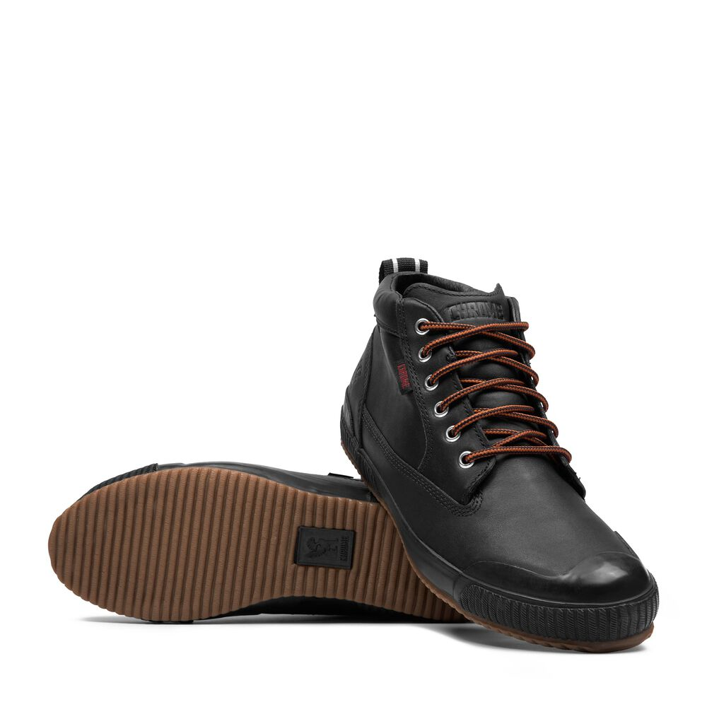 Storm 415 Workboot in Black Leather / Gum - large view.