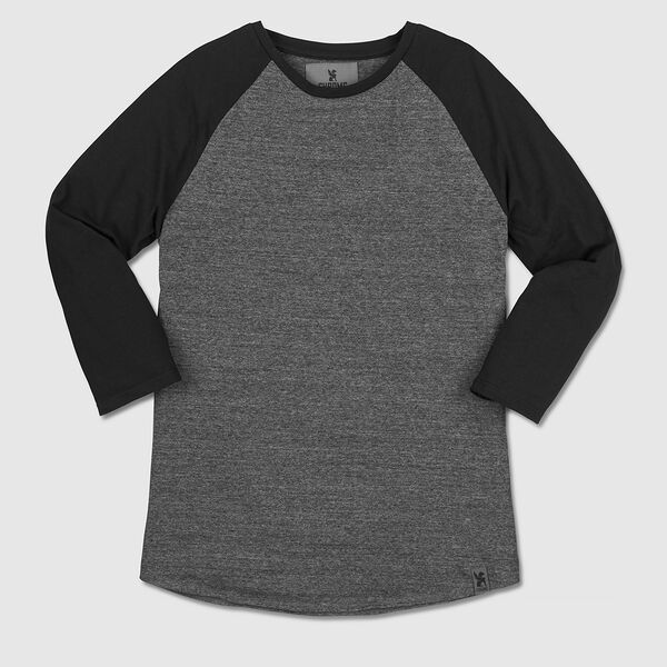 Addison Baseball Tee in Charcoal / Black - medium view.