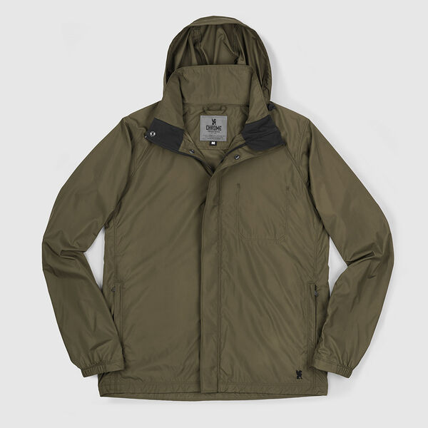 Packable Wind Cobra Jacket in Military Olive - medium view.