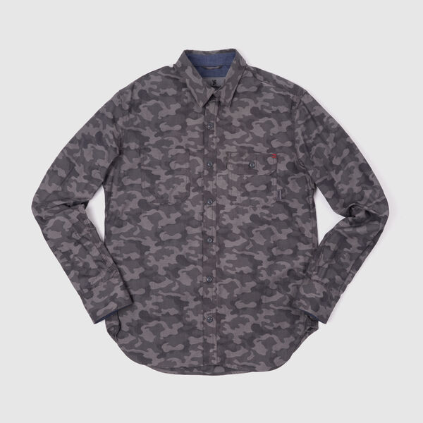 Woven Workshirt in Camo / Black - medium view.