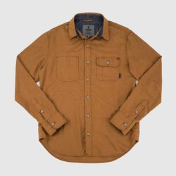 Brushed Cotton Woven Workshirt - Final Sale in Golden Brown - small view.