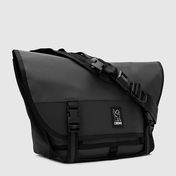 The Welterweight Mini Metro Messenger Bag in Charcoal / Black - medium view.