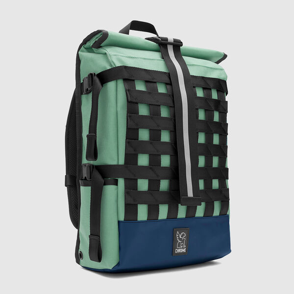 Barrage Cargo Backpack in Mint / Navy - medium view.
