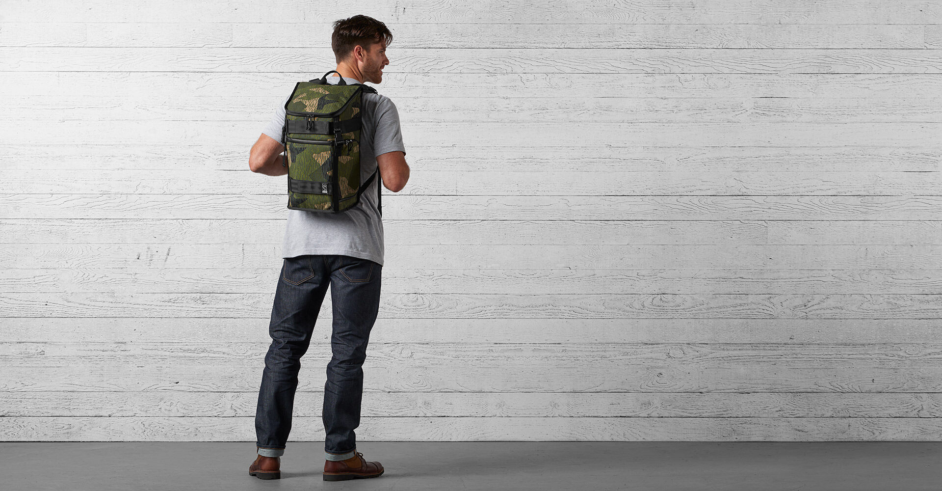 Reflective Camo Niko Backpack in Reflective Camo - wide view.