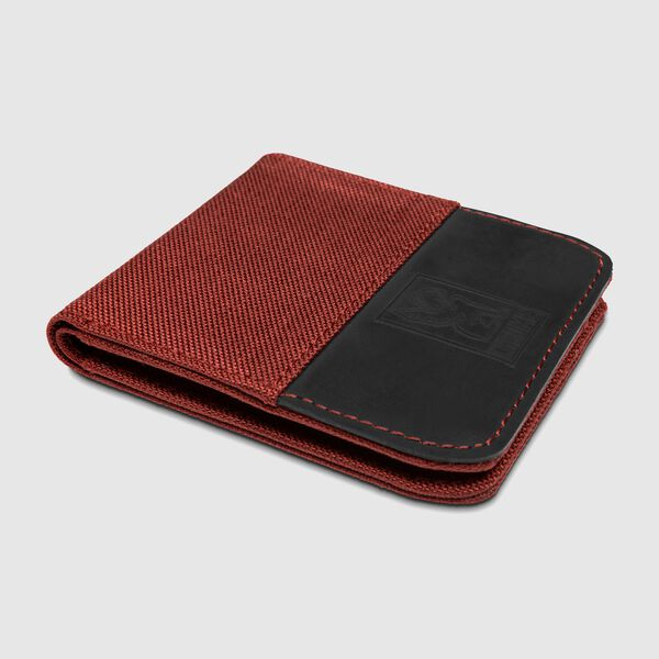 Nylon Bifold Wallet in Brick / Black - medium view.