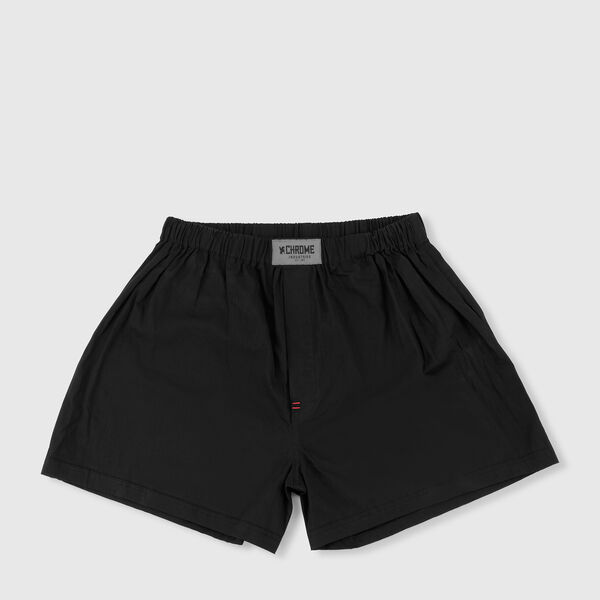 Woven Boxer in Black - medium view.