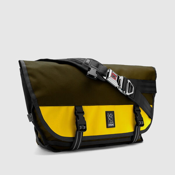 Citizen Messenger Bag in Fir / Bright Yellow - medium view.