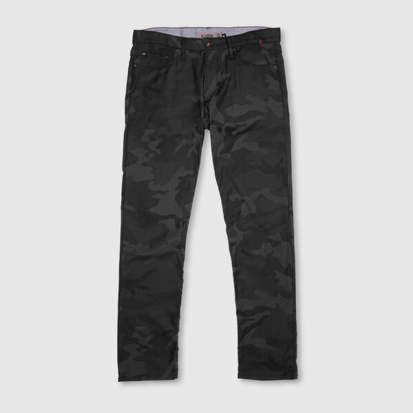 Fremont Five Pocket Pant in Black Camo - medium view.