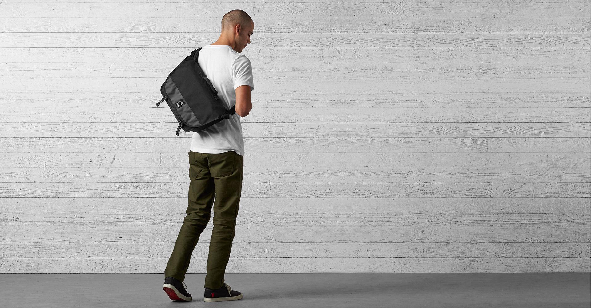 Mini Buran Messenger Bag - Final Sale in All Black - wide view.