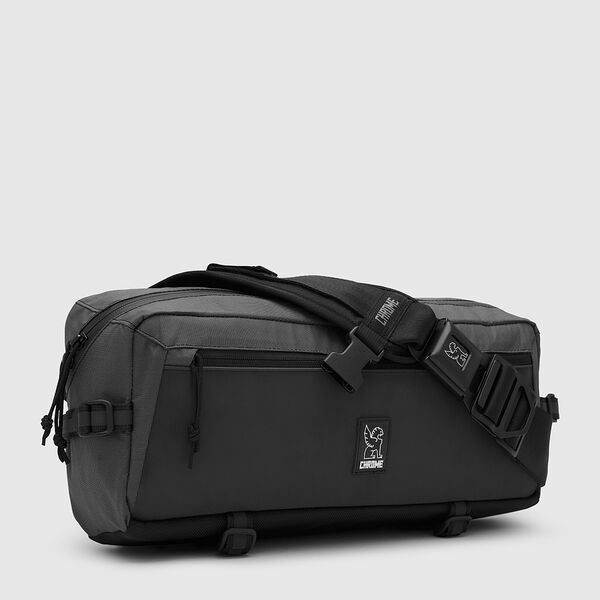 The Welterweight Kadet Messenger Bag in Charcoal / Black - medium view.