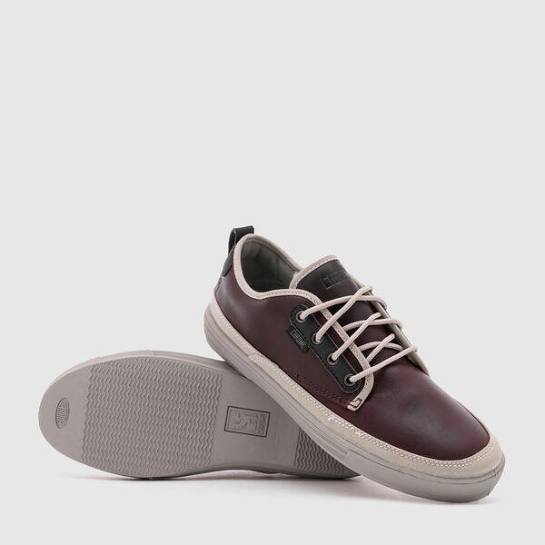 Ishak Sneaker in Amber Leather - medium view.