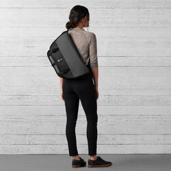 The Welterweight Mini Metro Messenger Bag in Charcoal / Black - wide-hi-res view.