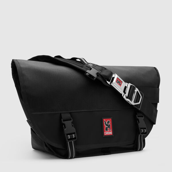 Mini Metro Messenger Bag in Black / Black - medium view.