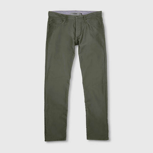 Fremont Five Pocket Pant in Olive - medium view.