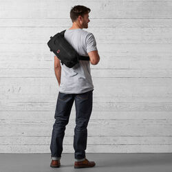 Kadet Nylon Messenger Bag in Black - wide-hi-res view.