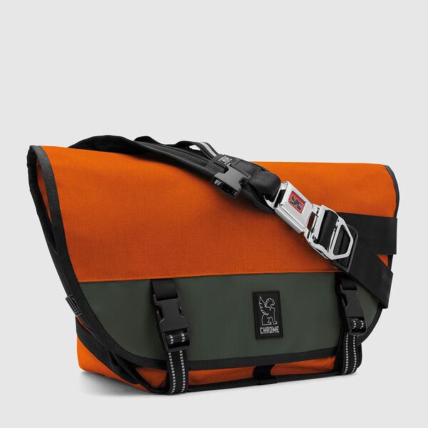 Mini Metro Messenger Bag in Orange / Fir - medium view.