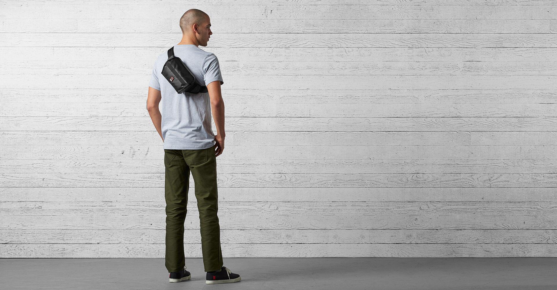 Niko Sling Messenger Bag in Black - wide view.
