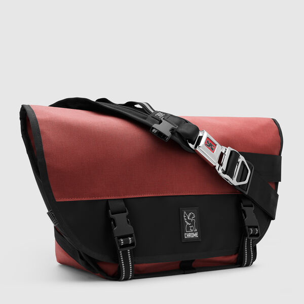 Mini Metro Messenger Bag in Brick / Black - medium view.