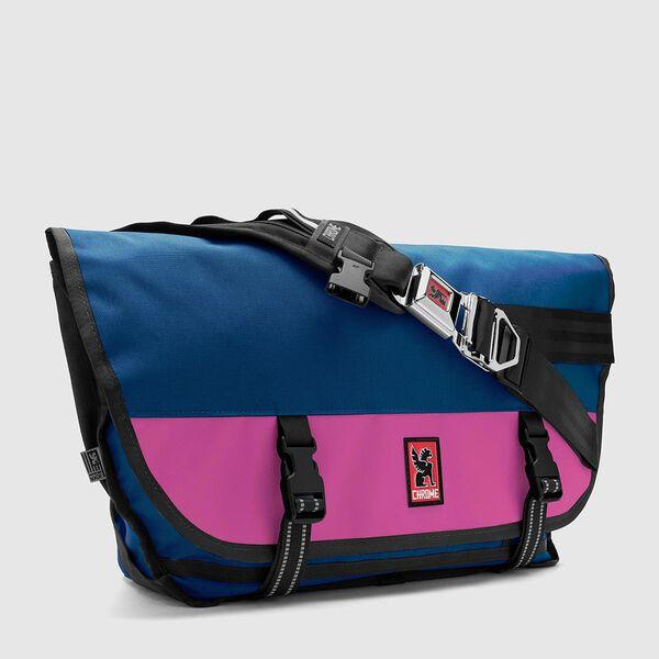 Citizen Messenger Bag in Royal Blue / Pink - medium view.