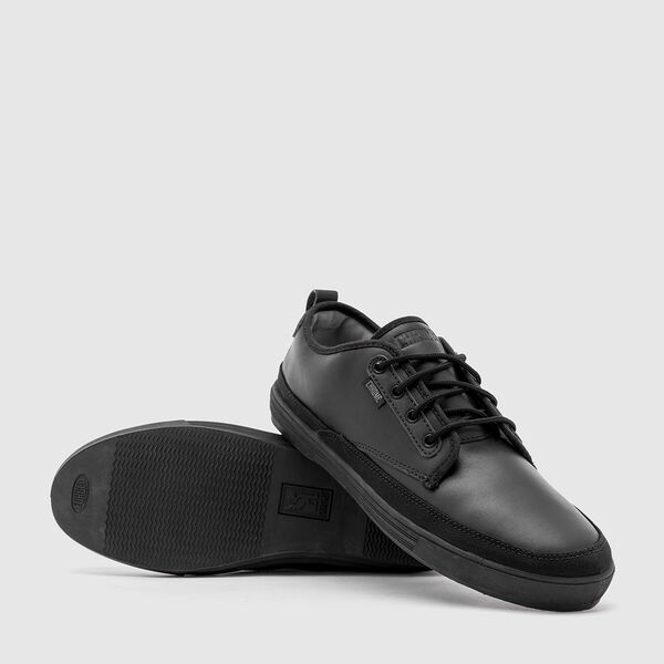 Ishak Sneaker in Black Leather - medium view.